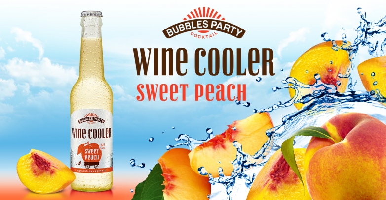 Bubbles Party Wine Cooler Sweet Peach